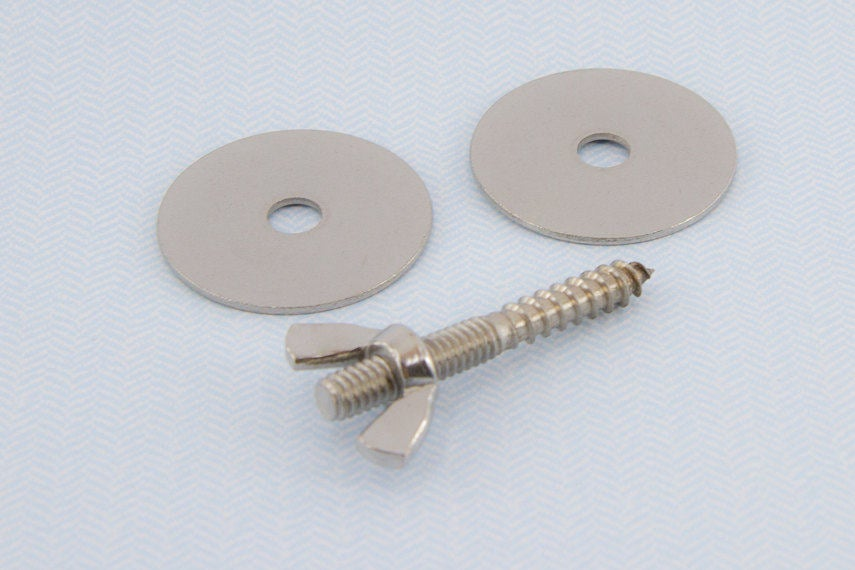 Stainless Steel Perch Hardware Set with 2 Washers