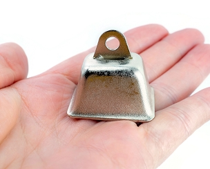 Cowbell - Nickel Plated - 1 1/4