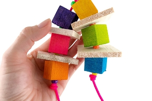 Fruity  - Balsa Bird Toy