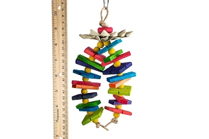 Island Time - Colorful Balsa Bird Toy - Easy to Shred and Fun to Play