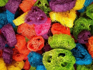 Colored Loofah Slices