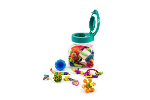 Tiny Footies - Jar of Tiny Foot Toys for Small Birds