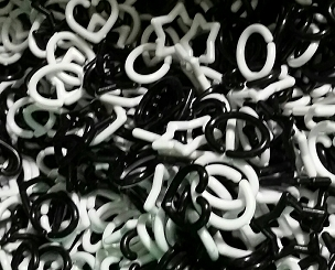 Mini Links - Black & White (100 pack)