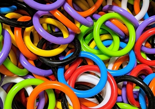 Plastic Rings 1.5 inch - Bird Toy Part, Sugar Glider Toy Part