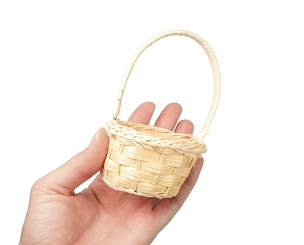 Flat Backed Mini Basket - Wicker - New