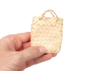 Natural Woven Palm Bags - Mini Buri Bags
