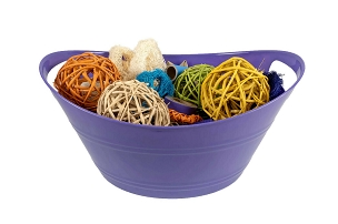 Colorful Basket of Chew Toys - For Bunny Rabbits, Guinea Pigs and Chinchillas