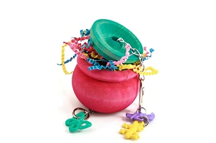 Pot o'Gold Foraging Toy - for Pet Birds
