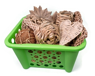 Natural Nibbles Chew Toy Basket for Bunny Rabbits, Guinea Pigs and Chinchilla, Great Gift